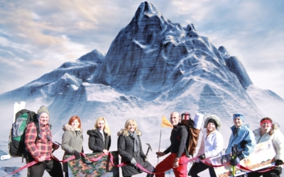 Mountain peak scene